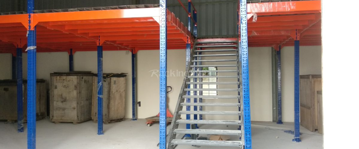 Modular Mezzanine Floor System Creating Customized Additional Floor Space